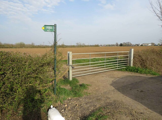 Entrance to field east of Gilmorton Road from west by Andrew Tatlow