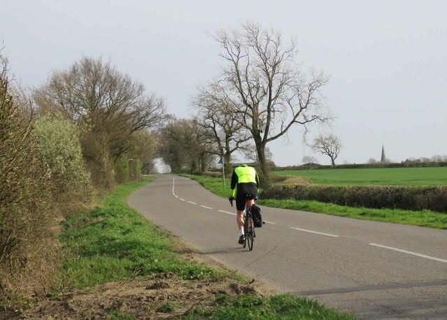 Gilmorton Road towards Gilmorton by Andrew Tatlow