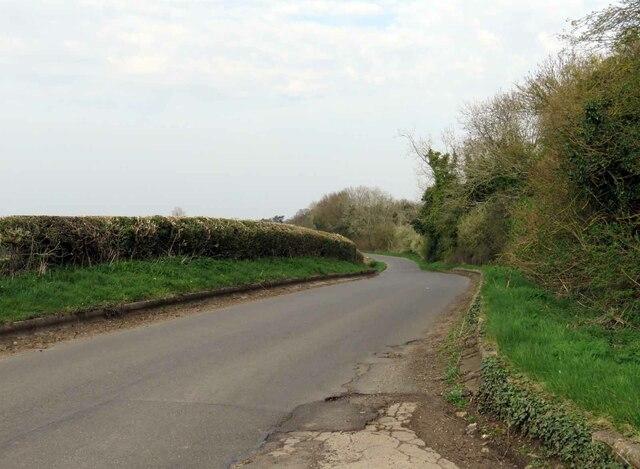 Leire Lane towards Dunton Bassett