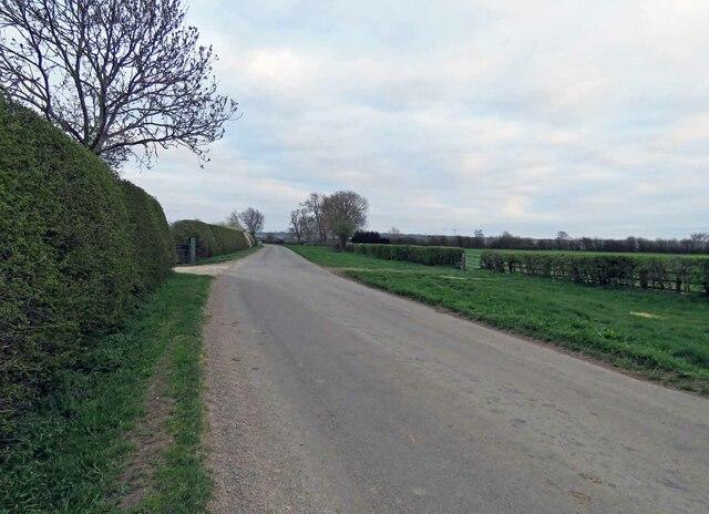 Harby Lane from Langar Grange by Andrew Tatlow