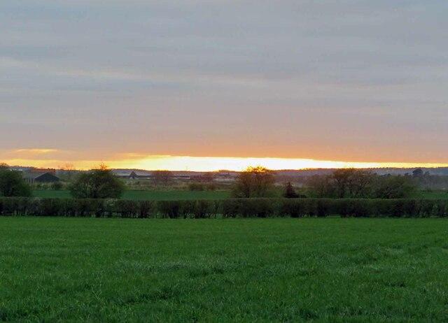 Sunset over Glebe Farm by Andrew Tatlow