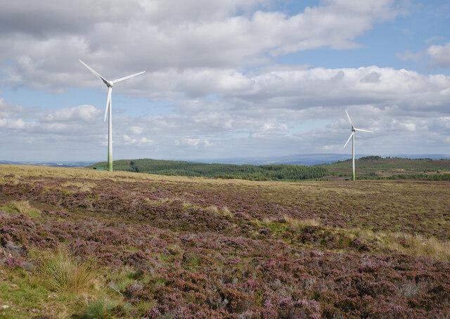 Wind turbines, by Loch nan Eun