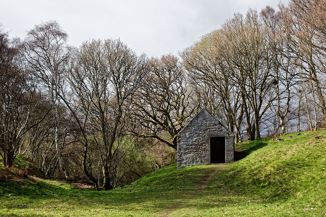 The church building at the Preaching Dell and Sacrament Burn