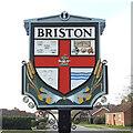 TG0632 : Briston village sign by Adrian S Pye