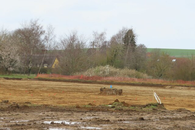 Cleared of topsoil