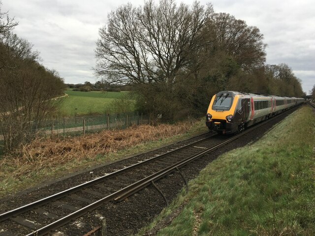 Passing X-Country train