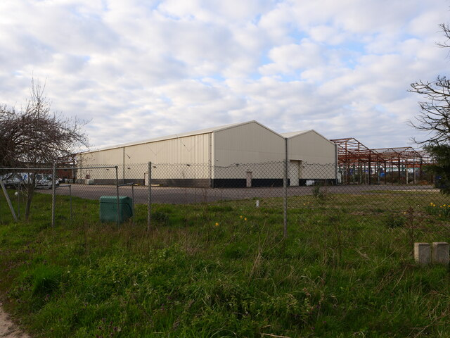 Warehouses on industrial Site by David Pashley