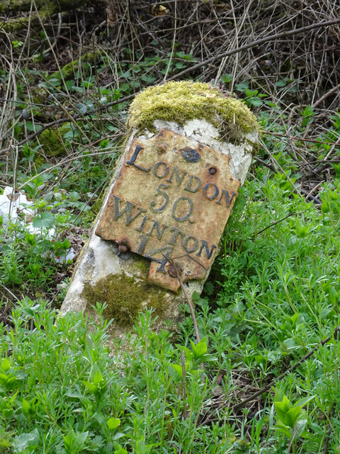 Old Milestone by the A31, The Shrave, Chawton Parish