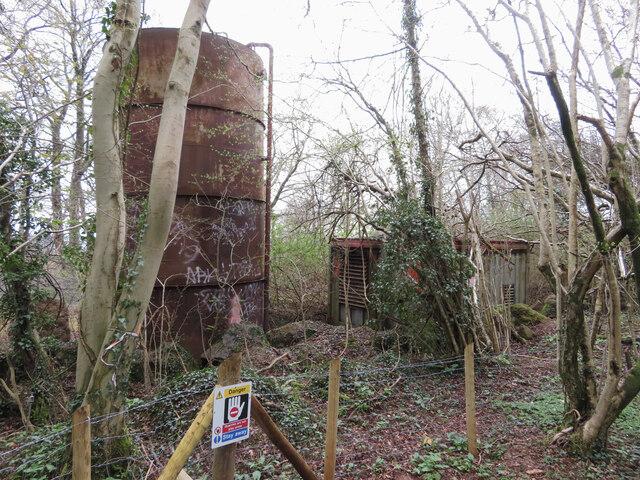 Derelict equipment at Taffs Well Quarry