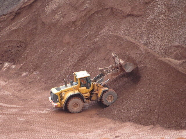 Loader at work in Taffs Well Quarry