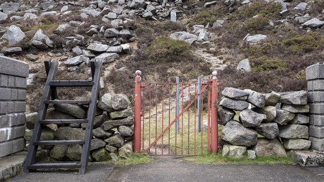 BWC gate, Ben Crom Reservoir