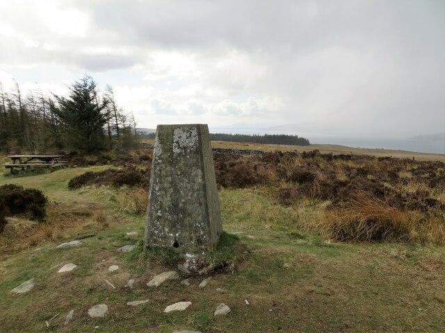 Trig pillar on Clach MacKenny 202m