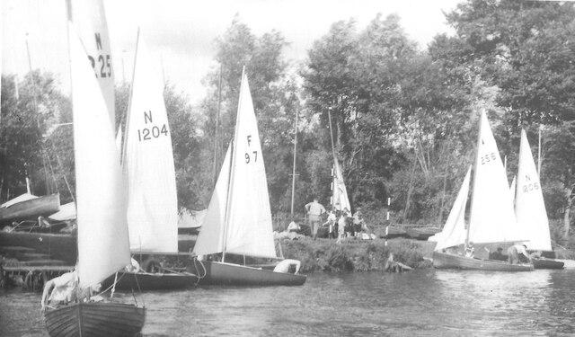 Avon Sailing Club at Twyning, 1957