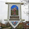 TM0799 : Morley St. Botolph village sign (detail) by Adrian S Pye