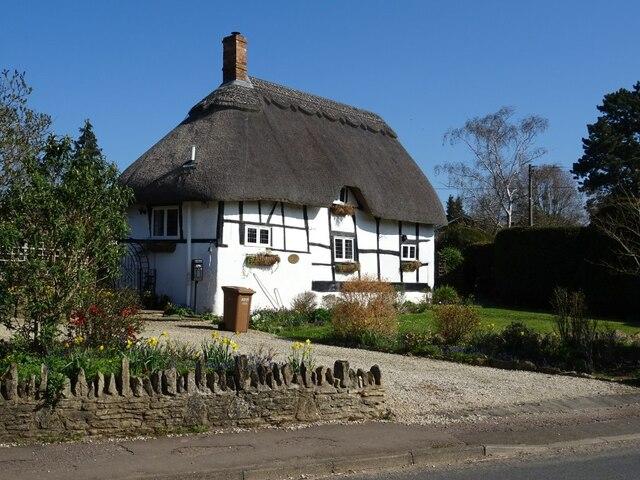 Thatched timber-framed cottage