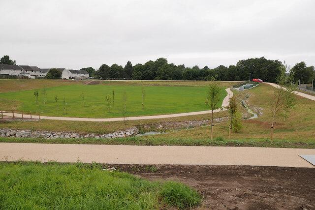 Flood storage basin, Smithton