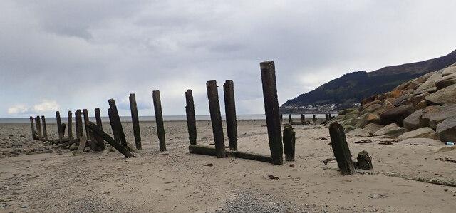 Groynes in the Shimna Estuary
