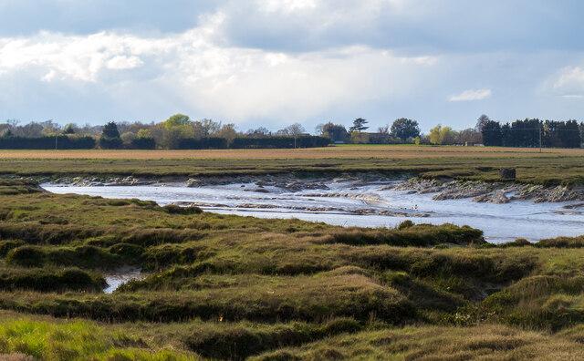 Low tide in Paglesham Creek