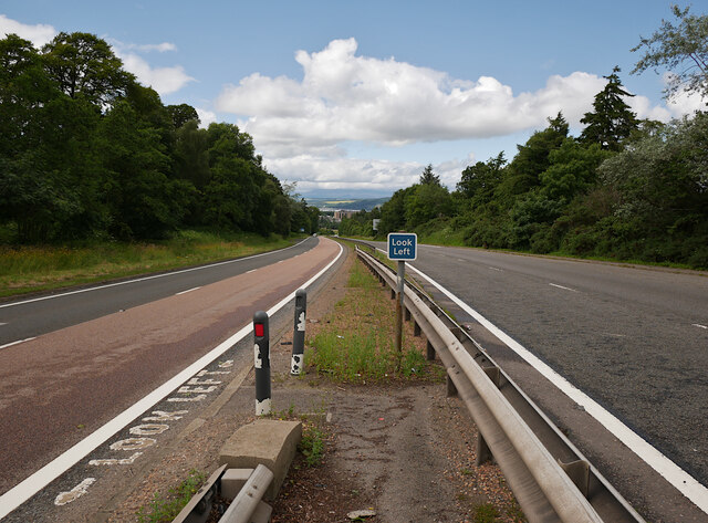 Crossing the A9, by Inshes