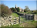 SD2782 : The Cumbria Way near St. John's Church by Adrian Taylor