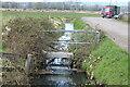ST3084 : Sluice on reen by Cuckoo Bridge Road by M J Roscoe