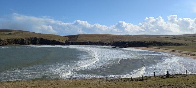 Burrafirth beach
