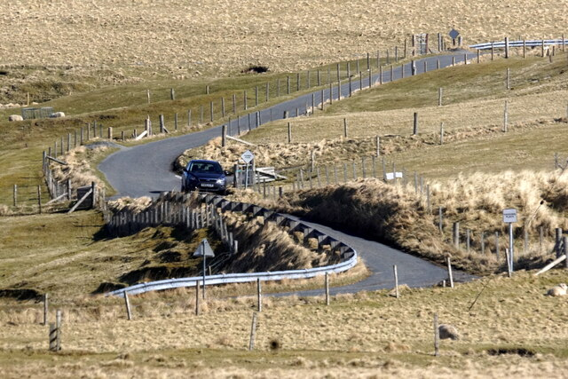 The road descending to the Burrafirth links