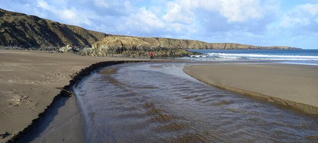 Burn of Norwick on Norwick beach