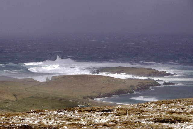 Holm of Skaw from Ward of Norwick