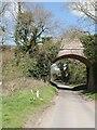 TG2632 : Bridge carrying Sheringham to Norwich Railway by David Pashley