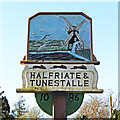 TG4106 : Halvergate village sign (east face) by Adrian S Pye