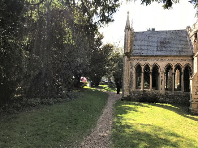Footpath in the churchyard at Great Massingham