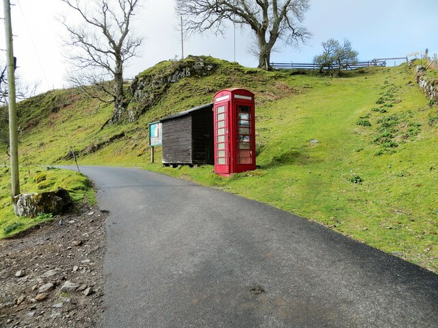 Old style telephone kiosk at the pierhead in Kerrera