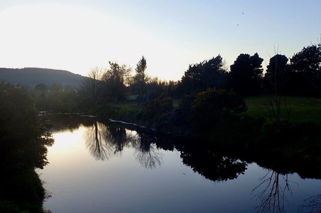 The Lower Reaches of the Tullybranigan River at Dusk