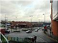 SP0786 : Moor Street Station seen from Swan Passage, Birmingham by habiloid