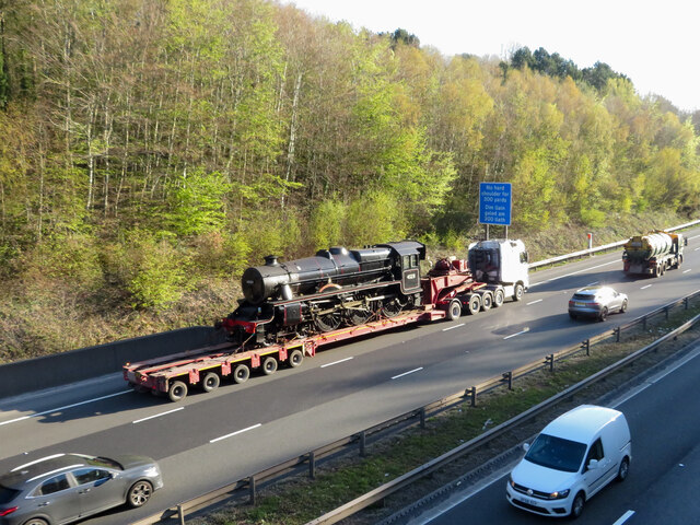 Steam locomotive on the M4