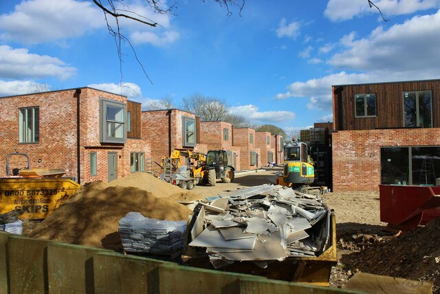 Nearing completion, housing to rear of Pettitt's Close, Dry Drayton