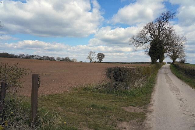 The lane to Kirk Langley