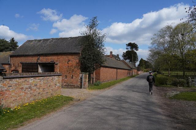 Farm buildings in Kirk Langley