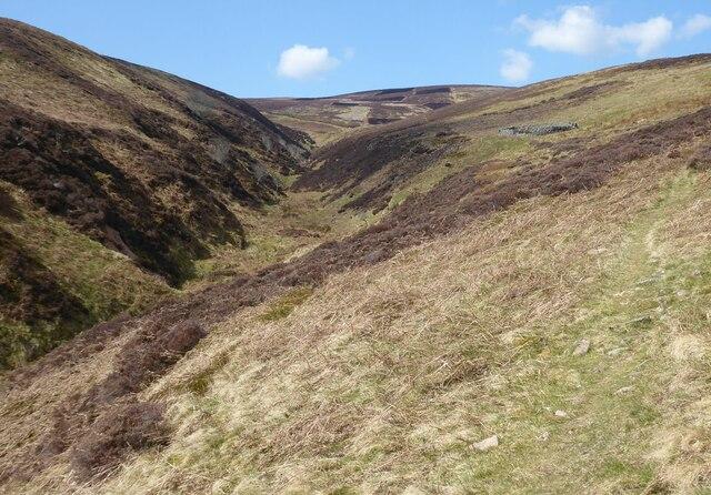Steep valley of the Hawsen Burn