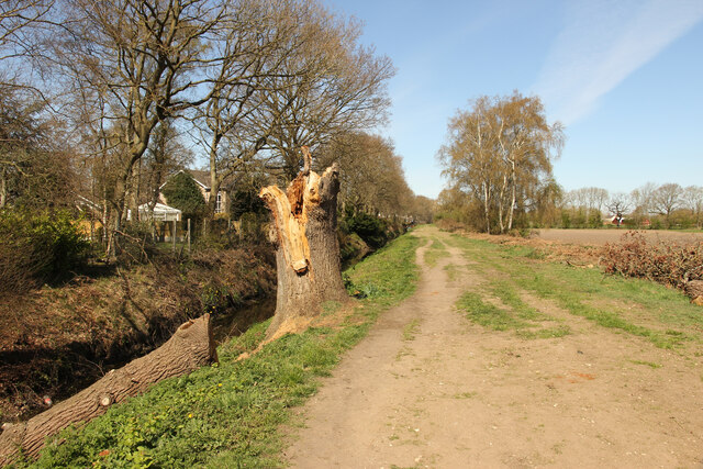 Footpath and Catchwater Drain