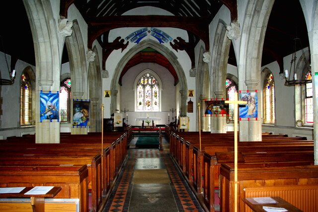 Looking east in St Andrew's Church