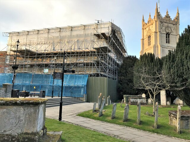 Repair work on Wisbech and Fenland Museum