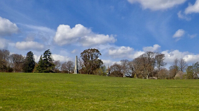 Fair weather cumulus and cirrus clouds over Parkland at Tollymore