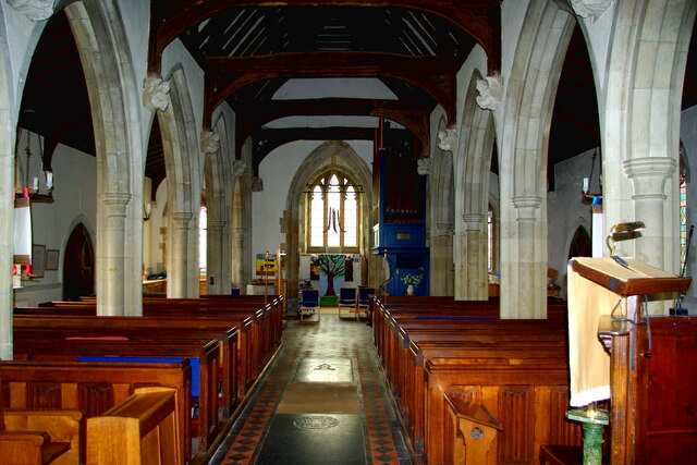 Looking west in St Andrew's Church