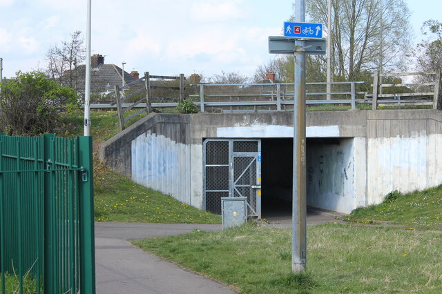 Underpass, Docks Way, A48, Maes-Glas