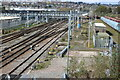 ST3086 : South Wales Main Line at Ebbw Junction by M J Roscoe