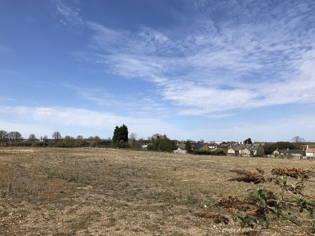 Large site awaiting development near Huntingdon Station