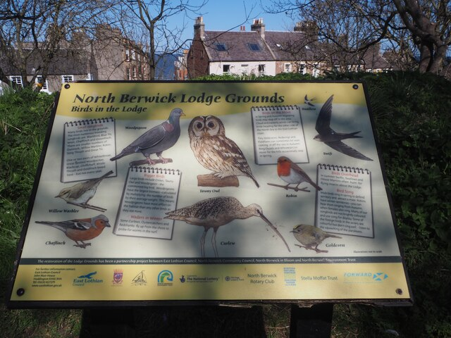Information Board about Wild Birds in Lodge Grounds