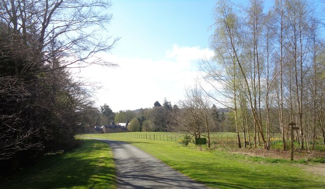 Driveway to Monteviot House and Old Stable Block